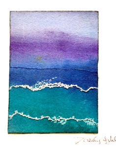 I called this Perfect Day . It is painted Pelmet Vilene and hand stich